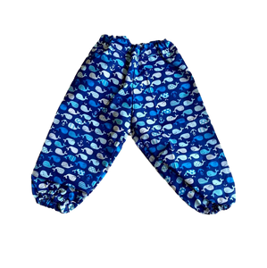 HANDMADE RANGE;  Cotton Everyday Pants- Whales