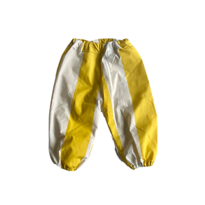HANDMADE RANGE;  Cotton Everyday Pants- Yellow/White Stripe