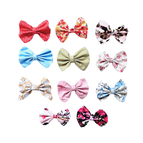 Fabric Hairbow Clips