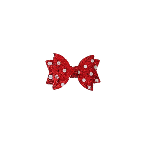 Red with White Spot Hair Clip