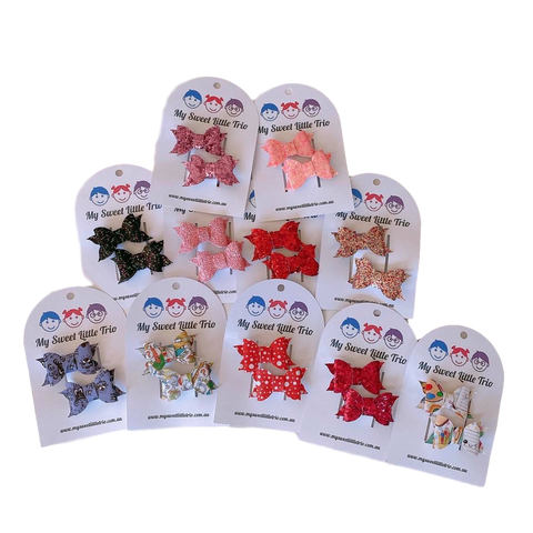 'Little Piggies' hair clips