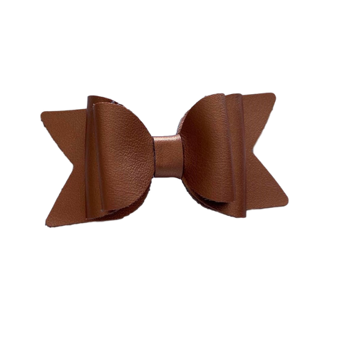 Large Metallic Bronze Bow Hair Clip