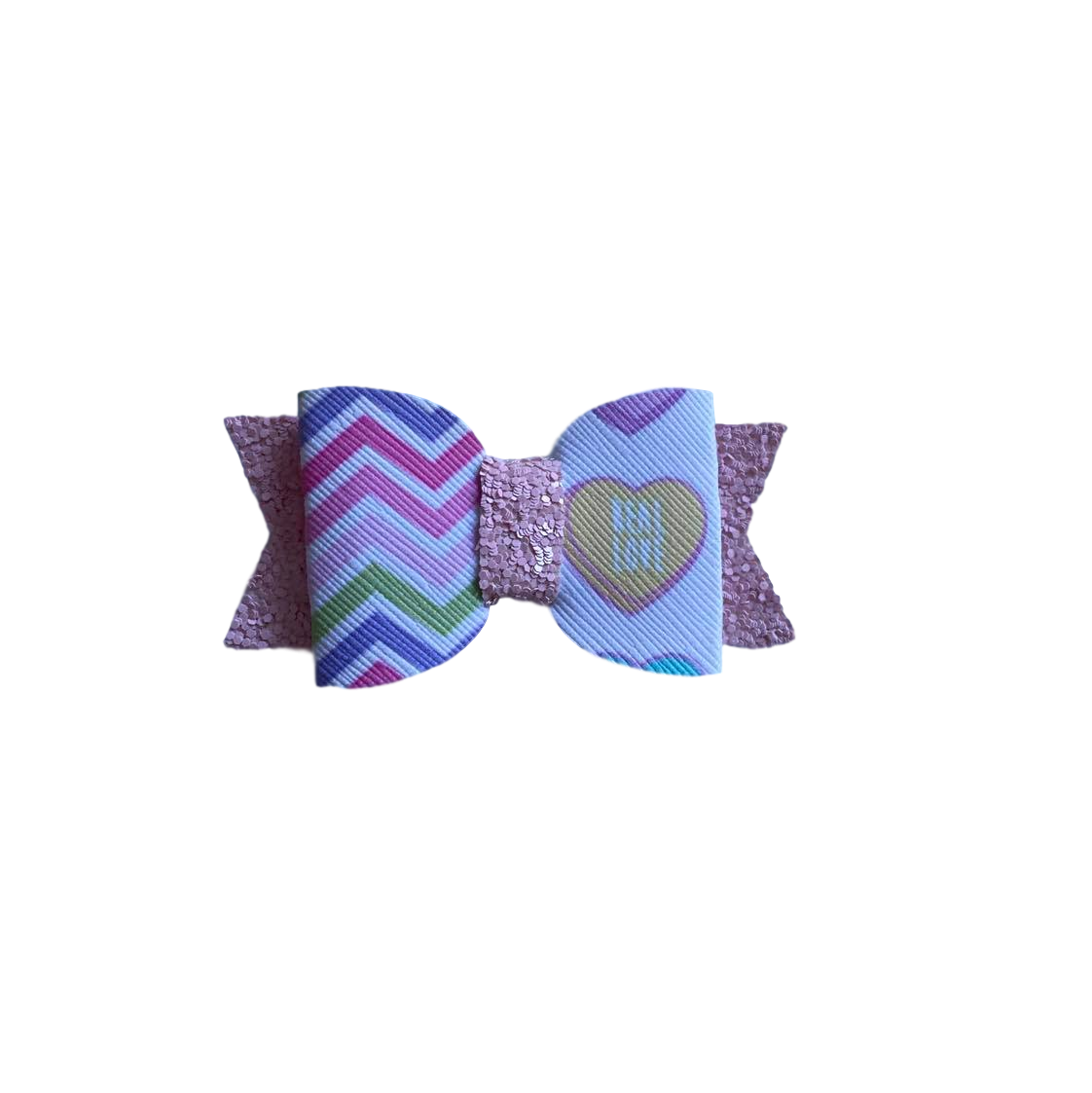 Little Love Bow hair Clip- Chevron Real Love