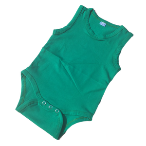 Green sleeveless onesie