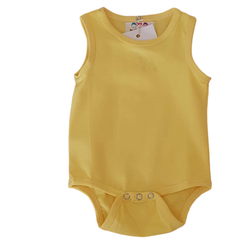 Sleeveless Bodysuit- Lemon