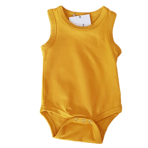 Sleeveless Bodysuit- Mustard