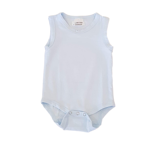 Sleeveless Bodysuit- Pale Blue