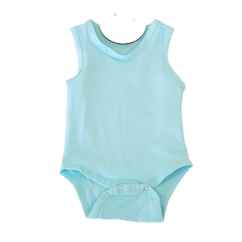 Sleeveless Bodysuit- Sky Blue