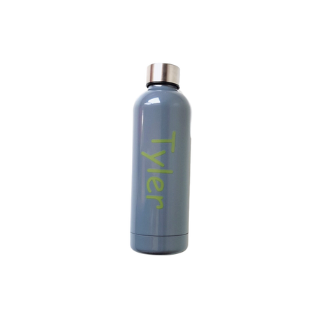 Stainless Steel Drink Bottle- Grey