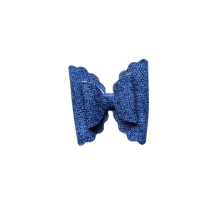 Trixie Bow hair Clip- Denim