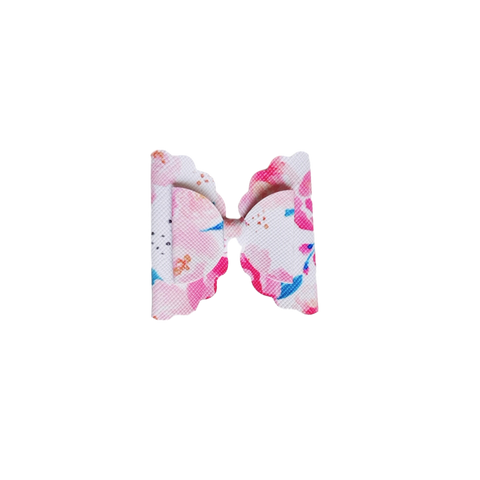 Trixie Bow hair Clip- Pink Floral