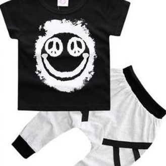 Happy Face 2 piece Set - My Sweet Little Trio