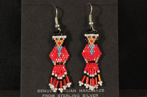 Beaded Navajo Maidens Earrings