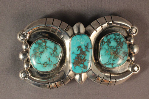 Orville Tsinnie Natural Royston Turquoise Belt Buckle