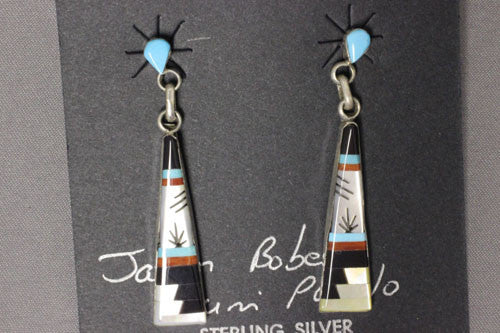 Zuni Multi Long Dangle Earrings