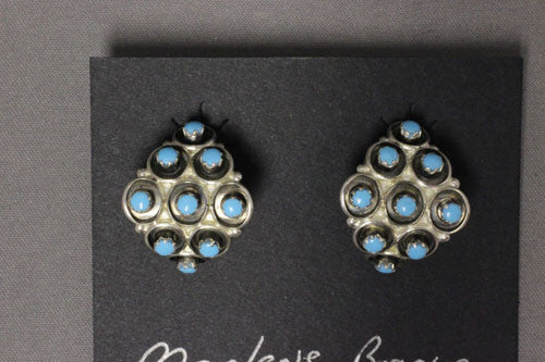 Zuni Turquoise Dot Earrings