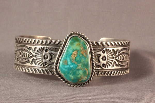 Vintage Style Bracelet With Natural Royston Turquoise