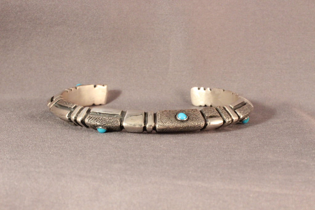 Modern Dome Style Bracelet With Sleeping Beauty Turquoise