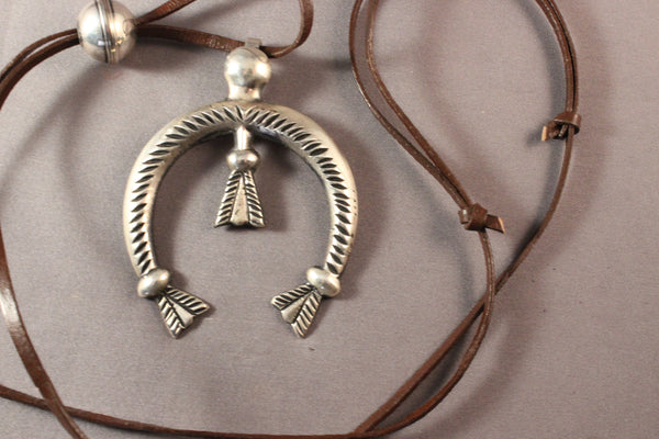 Wilson Begay Sterling Silver Naja Necklace