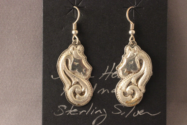 Shane Hendren Sterling Silver Horse Earrings