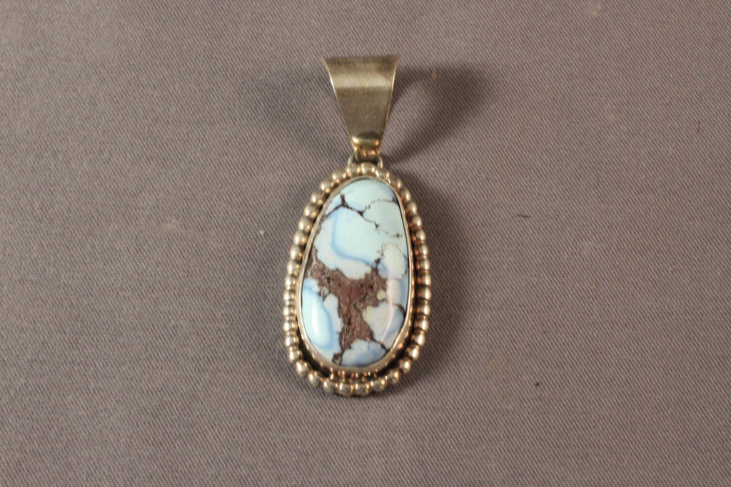 Oval Golden Hills Turquoise Pendant
