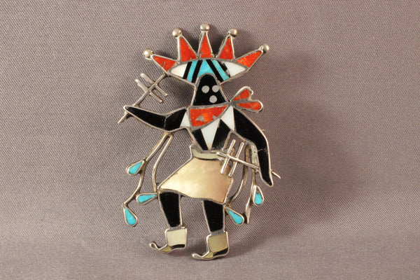 Vintage Apache Mountain Spirit Dancer Pin