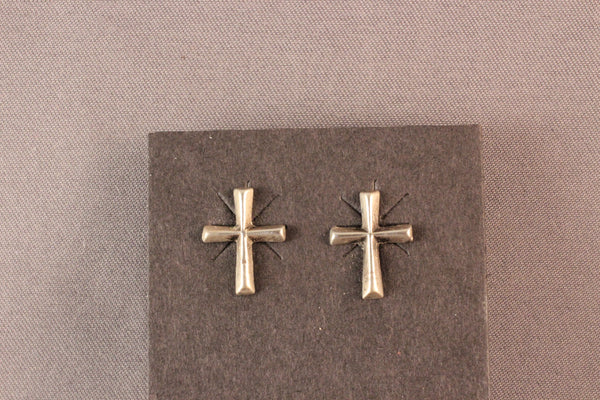 Zuni Sterling Silver Cross Earrings
