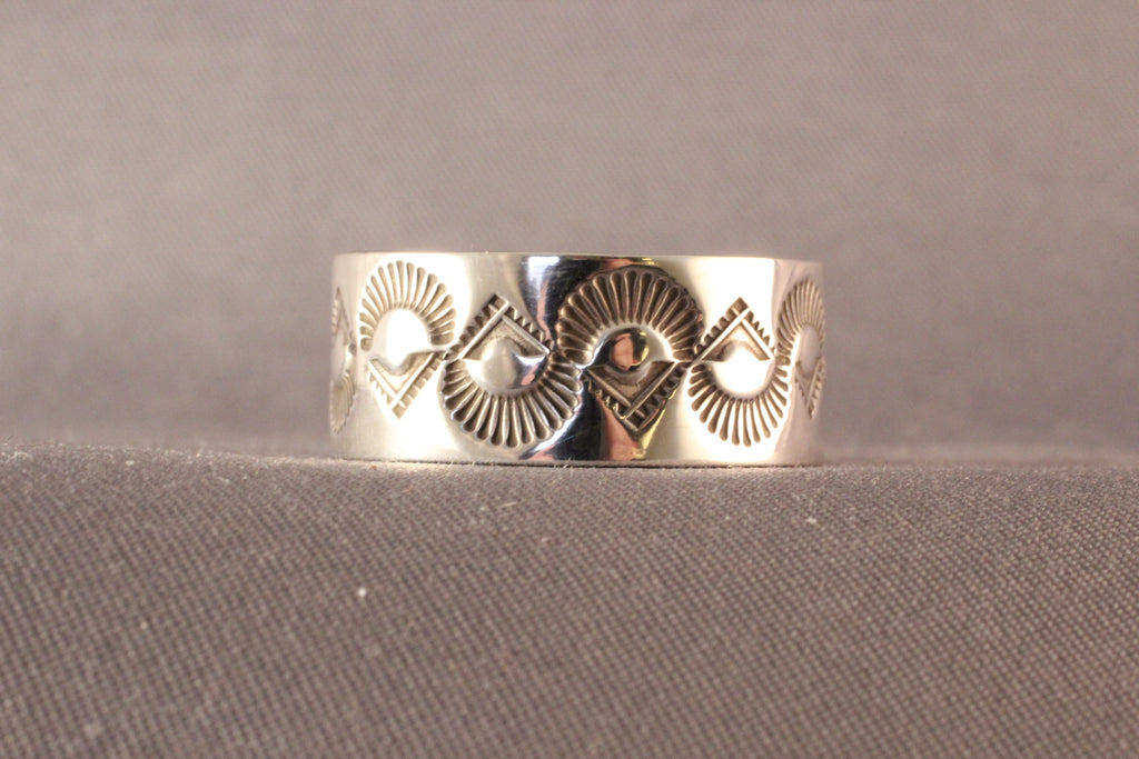 L. Bruce Hodgins Hand Stamped Ring