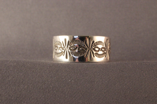 L. Bruce Hodgins  Sterling Stamped Ring
