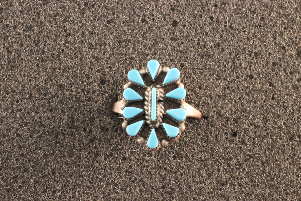 Turquoise Petit Point Ring