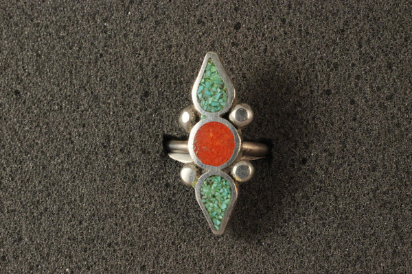 Vintage Chip Inlay Ring
