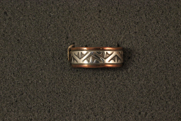 Sterling Silver And Copper Stamped Ring