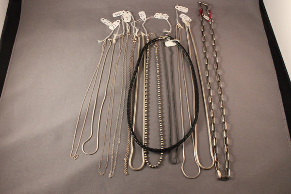 Pendant Chains And Braided Leather Necklaces