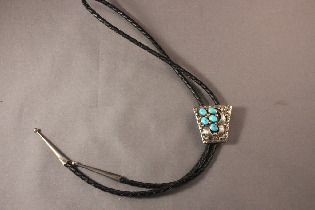 Child's Bolo Tie With Sleeping Beauty Turquoise.