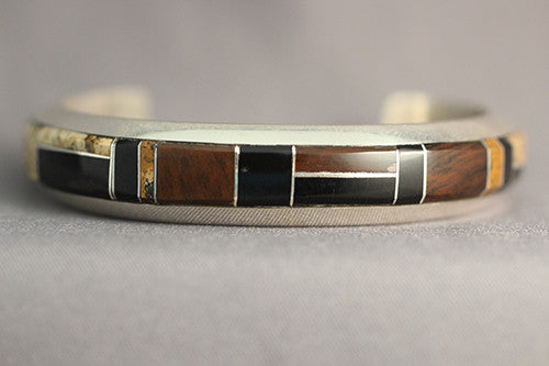 Jasper and Jet Navajo Bracelet