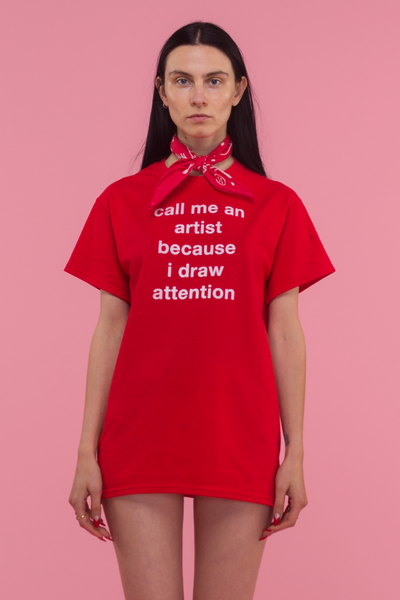 Draw Attention T-Shirt (Red)