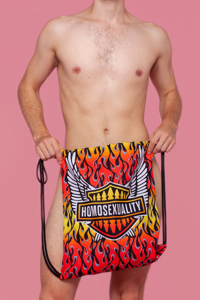 Flamin' Homosexual Drawstring Bag