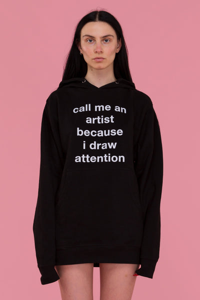 Draw Attention Hoodie (Black)