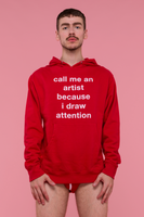 Draw Attention Hoodie (Red)