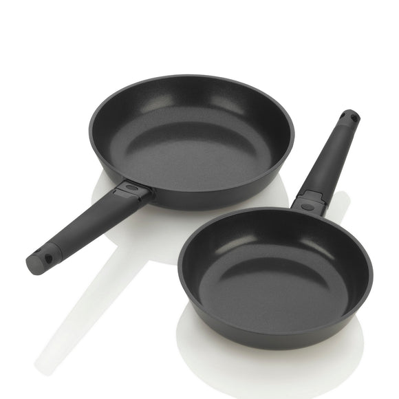 ZCWNR23 - Noir 2pc Frypan Set, 8in & 10in