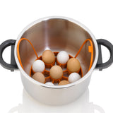 Cooking Egg Rack inside pressure cooker