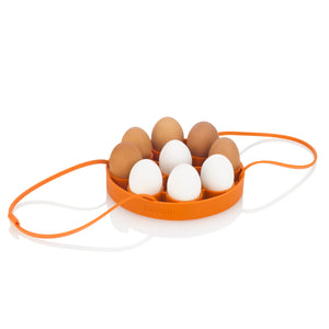 Cooking Egg Rack with eggs