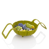 Silicone Steamer Basket with food
