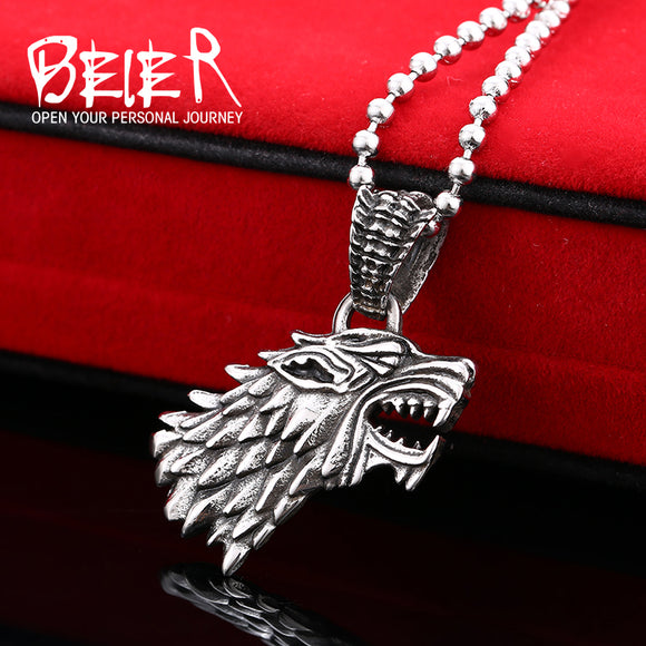 Game Of Thrones House Stark of Winterfell Wolf Necklace