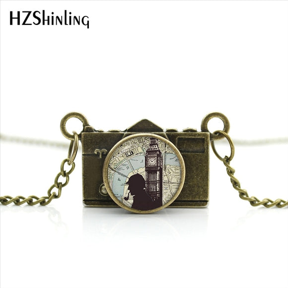 Sherlock Holmes Camera Necklace 18 Styles to Choose From