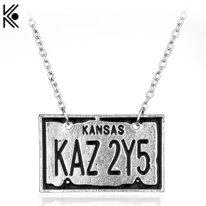 KANSAS KAZ 2Y5 Supernatural Baby's License Plate Necklace