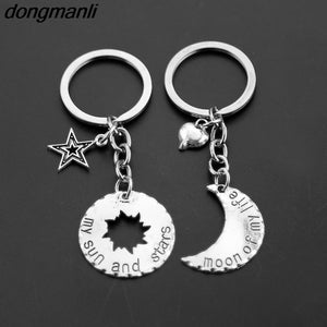 "1 pair Game of Thrones Keychains ""Moon of My Life, My Sun and Stars"""
