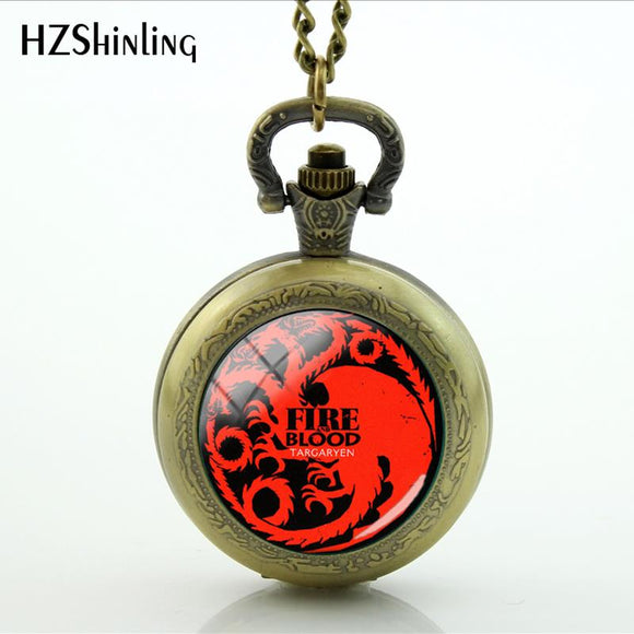 Game Of Thrones House Targaryen Pocket Watches 6 Styles to Choose From