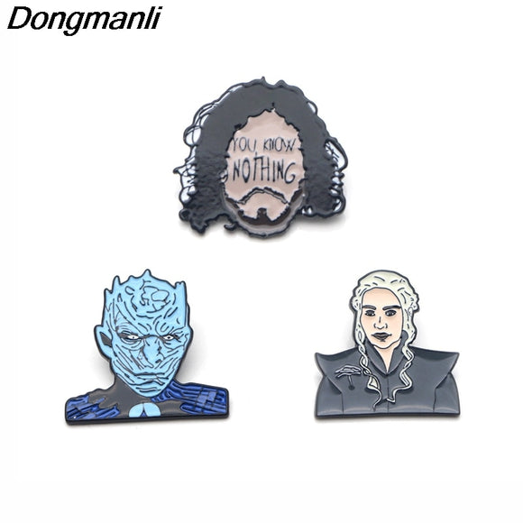 Game of Thrones You Know Nothing Metal Enamel Pins 3 to Choose From