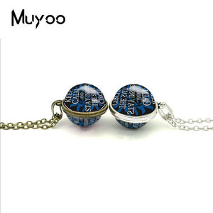 Double Sided Pendant Supernatural Necklaces Glass